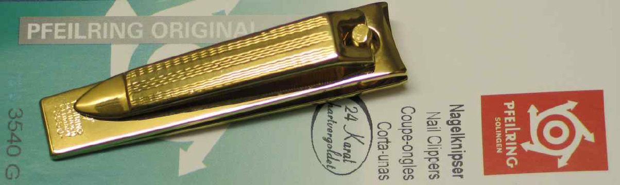 Nail Clippers PFEILRING SOLINGEN gold-plated 5.5cm